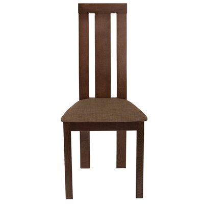 Mccaleb Slat Back Upholstered Dining Chair Upholstery Color: Honey Brown, Frame Color: Espresso
