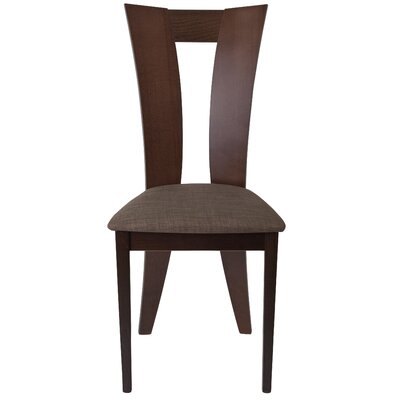 McCalla Upholstered Dining Chair Upholstery Color: Honey Brown, Frame Color: Espresso