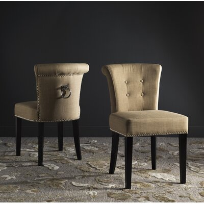 Florentine Side Chair Upholstery: Beige