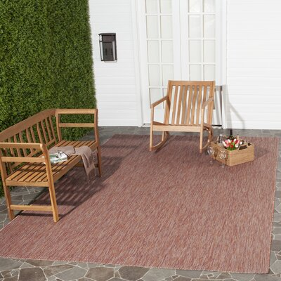 Adelia Red Indoor/Outdoor Area Rug Rug Size: Rectangle 8 x 11