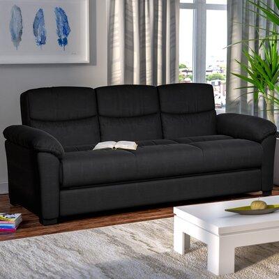 Melisa Fabric Storage Sleeper Sofa Upholstery: Black