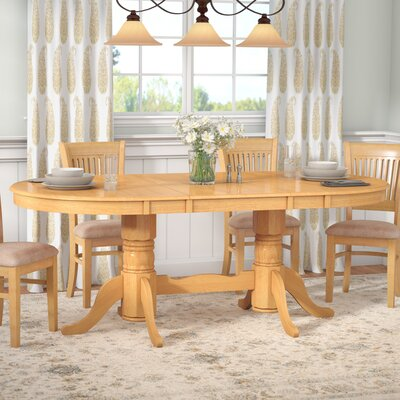 Inwood Oval-Shaped Extendable Dining Table Finish: Oak