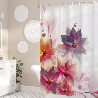 Gould Flowers Burt and Leaf Shower Curtain Size: 69 W x 75 L