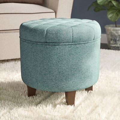 Brandee Storage Ottoman Upholstery: Teal