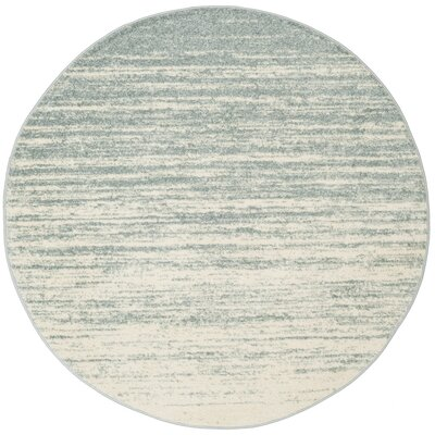 Schacher Slate/Cream Area Rug Rug Size: Round 6