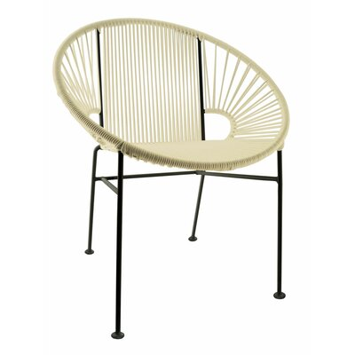 Mason Dining Chair Color: Ivory/Black