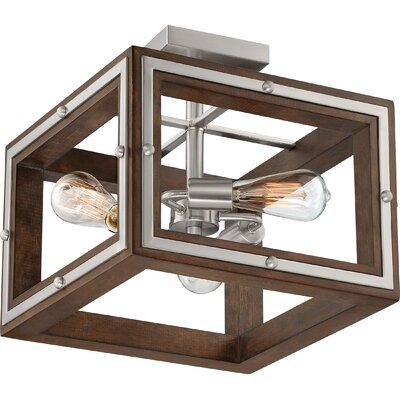 Graver 3-Light Semi Flush Mount