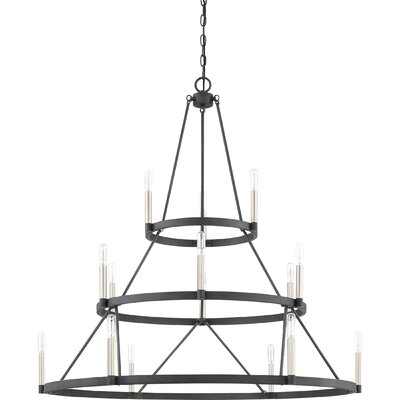 Lopes 15-Light Candle-Style Chandelier