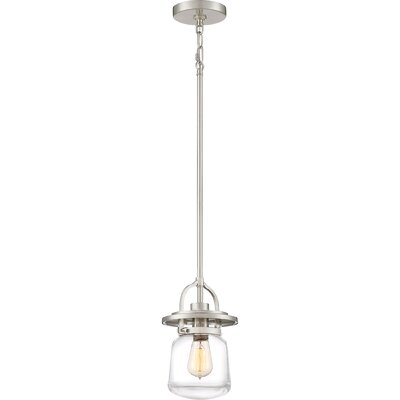 Dickerson 1-Light Mini Pendant Color: Brushed Nickel