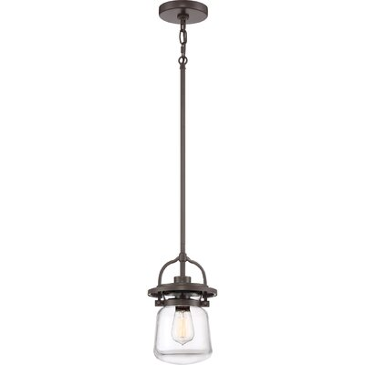 Dickerson 1-Light Mini Pendant Color: Western Bronze