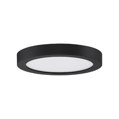 Reider 1-Light LED Flush Mount Fixture Finish: Oil Rubbed Bronze, Size: 1 H x 7.5 W x 7.5 D
