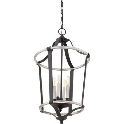 Lopez 4-Light Foyer Pendant Finish: Silver