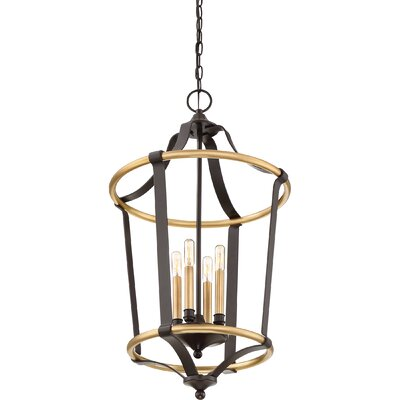 Lopez 4-Light Foyer Pendant Finish: Gold