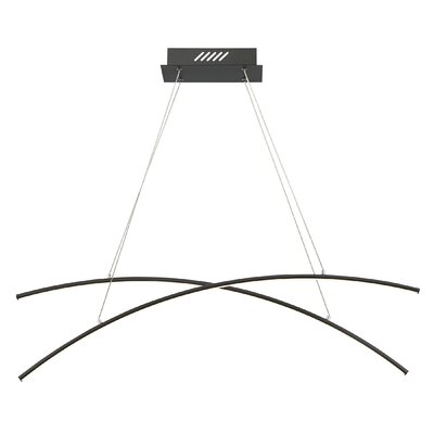 Reisinger LED Kitchen Island Pendant Finish: Earth Black