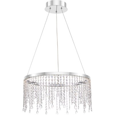 Tilda 1-Light LED Crystal Pendant Size: 10.25 H x 20 W x 20 D