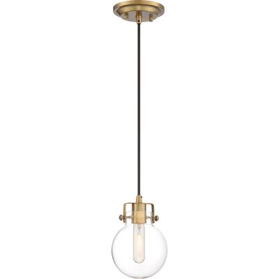 Diedrich 1-Light Mini Pendant Color: Weathered Brass