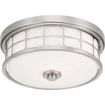 Fostoria 2-Light Flush Mount Fixture Finish: Brushed Nickel