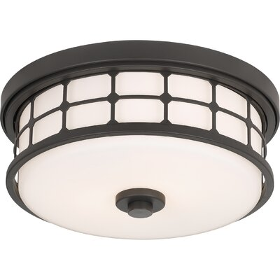 Fostoria 2-Light Flush Mount Fixture Finish: Old Bronze