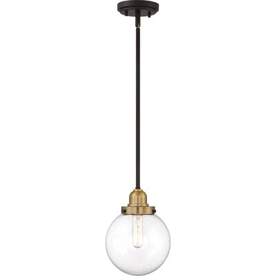 Brucie 1-Light Globe Pendant Finish: Gold