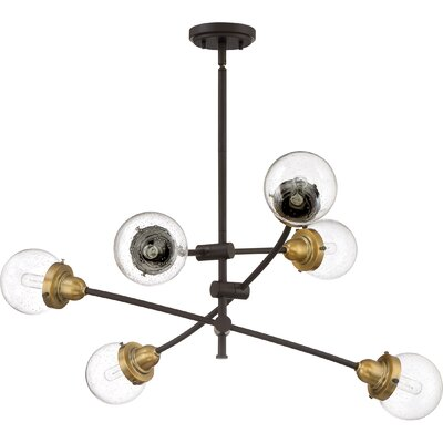 Brucie 6-Light Sputnik Chandelier Finish: Western Bronze
