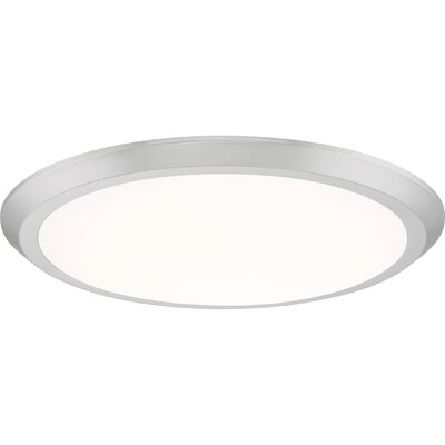 Nowak 1-Light LED Flush Mount Fixture Finish: Brushed Nickel, Size: 2 H x 20 W x 20 D