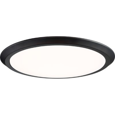 Nowak 1-Light LED Flush Mount Fixture Finish: Oil Rubbed Bronze, Size: 2 H x 20 W x 20 D