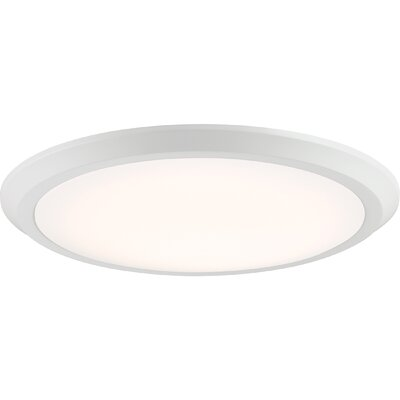 Nowak 1-Light LED Flush Mount Fixture Finish: Fresco, Size: 2 H x 20 W x 20 D