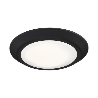 Nowak 1-Light LED Flush Mount Fixture Finish: Oil Rubbed Bronze, Size: 1.25 H x 7.75 W x 7.75 D