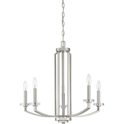 Enders 5-Light Candle-Style Chandelier Finish: Brushed Nickel