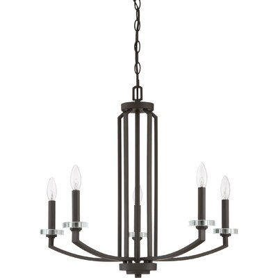 Enders 5-Light Candle-Style Chandelier Finish: Old Bronze