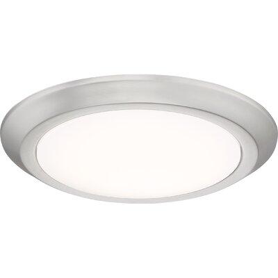 Nowak 1-Light LED Flush Mount Fixture Finish: Brushed Nickel, Size: 1.75 H x 12 W x 12 D