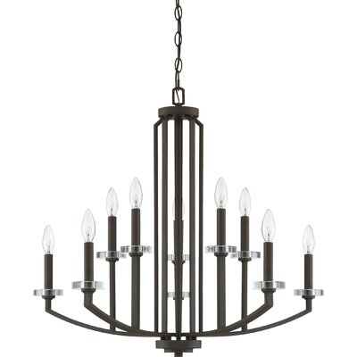 Enders 10-Light Candle-Style Chandelier Finish: Old Bronze