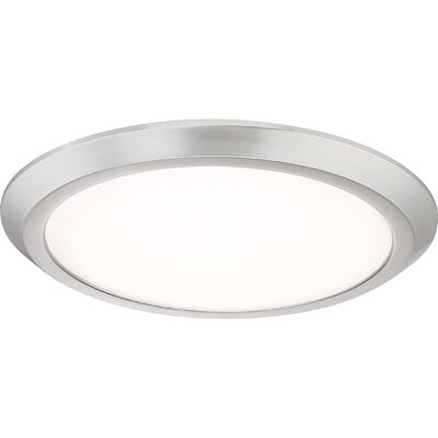 Nowak 1-Light LED Flush Mount Fixture Finish: Brushed Nickel, Size: 2 H x 16 W x 16 D