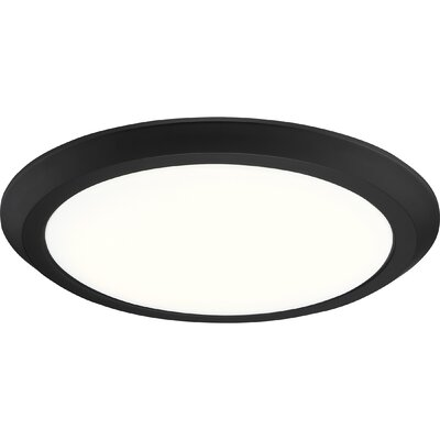 Nowak 1-Light LED Flush Mount Fixture Finish: Oil Rubbed Bronze, Size: 2 H x 16 W x 16 D