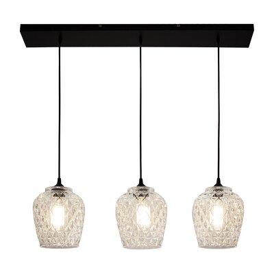 Paladino Glass 3-Light Kitchen Island Pendant