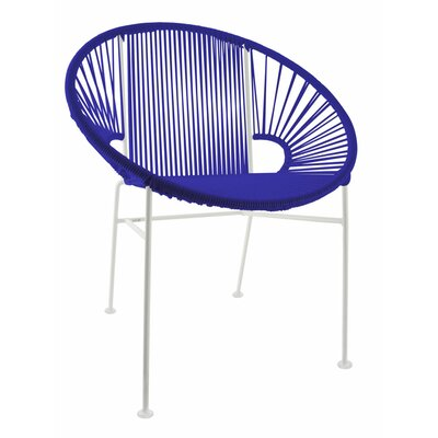 Mason Dining Chair Color: Deep Blue/White