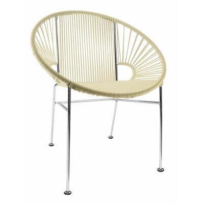 Mason Dining Chair Color: Ivory/Chrome