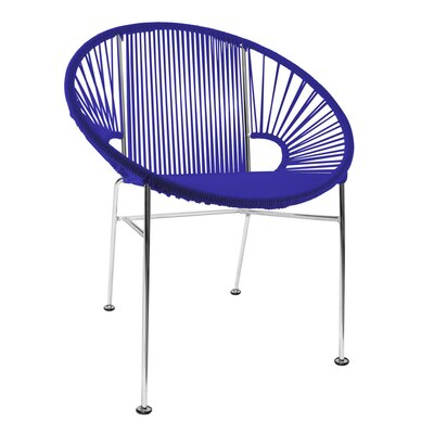 Mason Dining Chair Color: Deep Blue/Chrome
