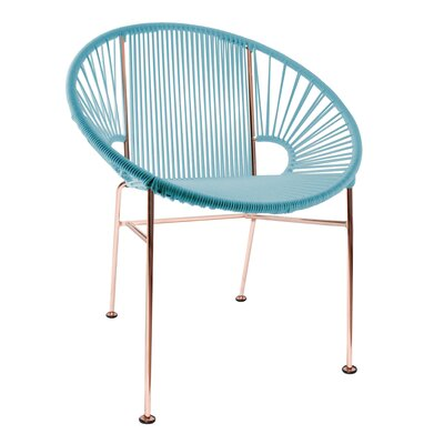Mason Dining Chair Color: Blue/Copper