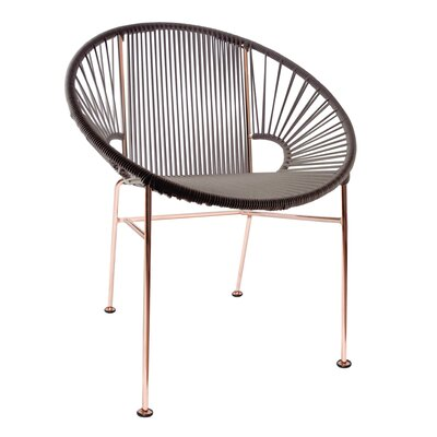 Mason Dining Chair Color: Black/Copper