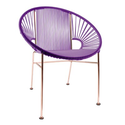 Mason Dining Chair Color: Purple/Copper
