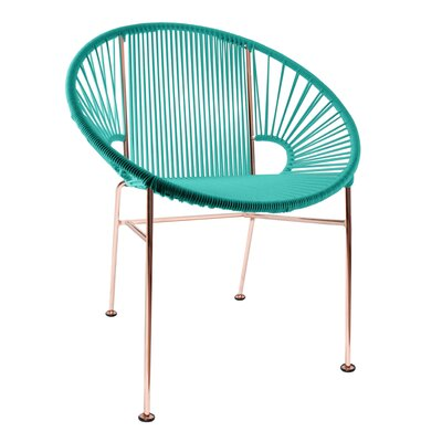 Mason Dining Chair Color: Turquoise/Copper