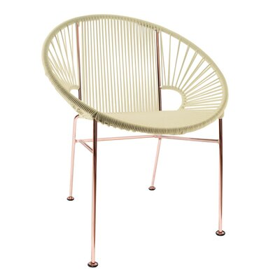 Mason Dining Chair Color: Ivory/Copper