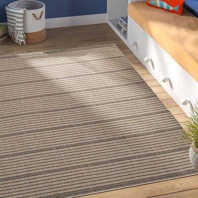 Guilderland Black/Beige Indoor/Outdoor Area Rug Rug Size: Rectangle 5 x 76