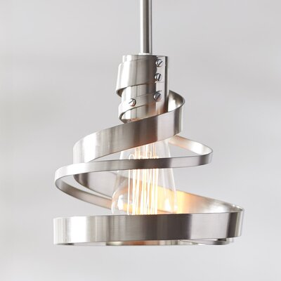 Culpepper 1-Light Mini Pendant Finish: Satin Nickel, Size: 7 H x 7 W x 7 D