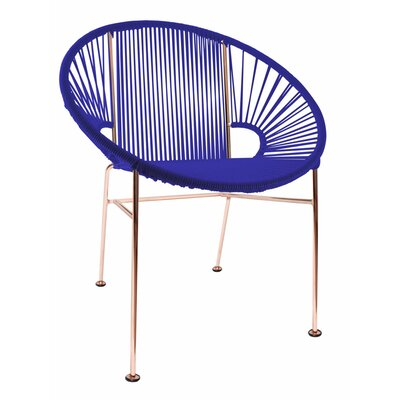 Mason Dining Chair Color: Deep Blue/Copper