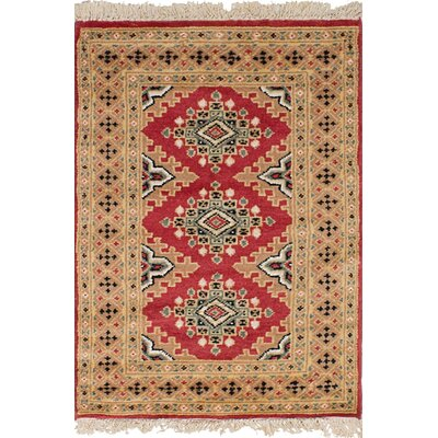 One-of-a-Kind Etting Hand-Knotted Wool Beige/Dark Copper Area Rug
