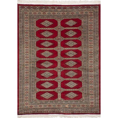 One-of-a-Kind Etter Hand-Knotted Wool Red Area Rug
