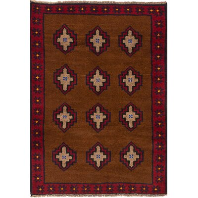 One-of-a-Kind Pagan Hand-Knotted Wool Brown Area Rug