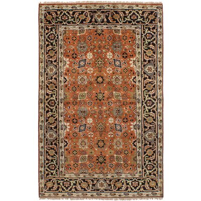 Etna Hand-Knotted Wool Dark Copper Area Rug